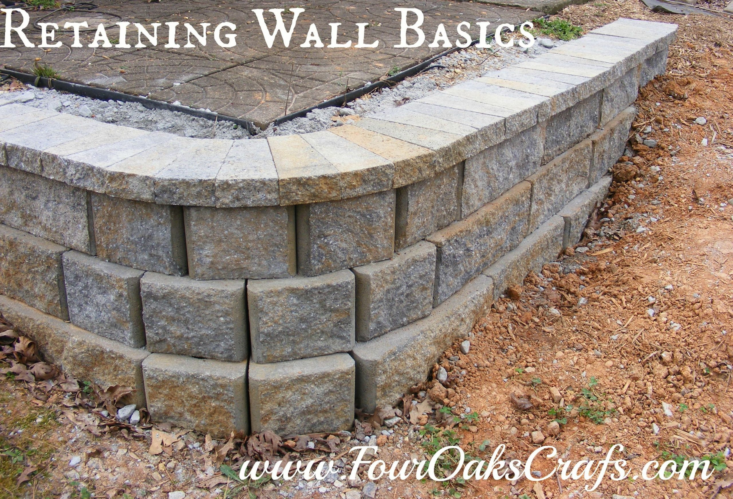 How to Build a Simple Retaining Wall -   22 garden steps retaining wall ideas