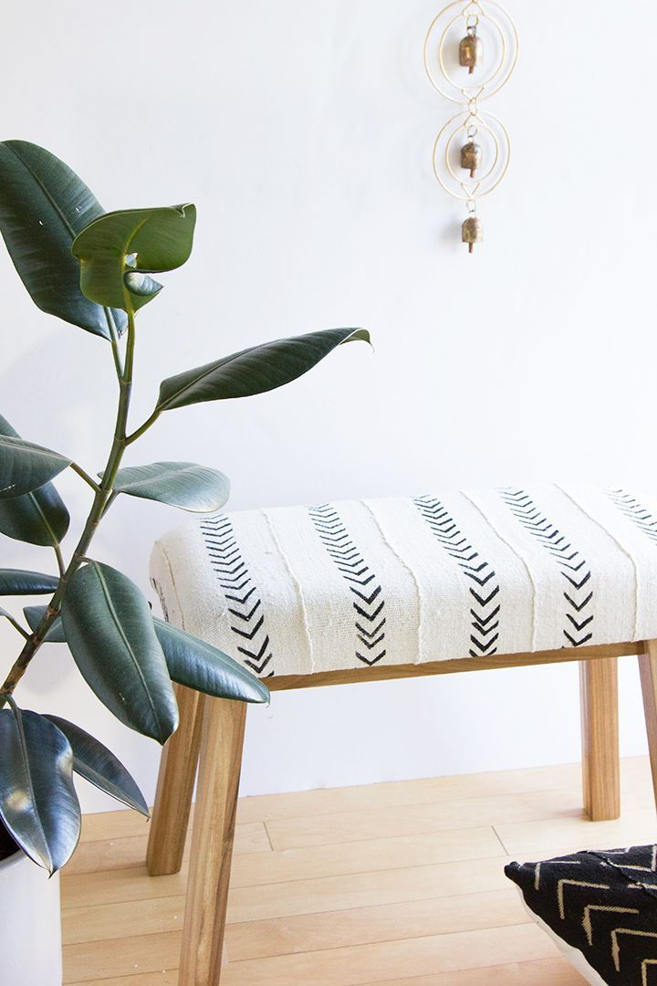 Ikea Hack Mudcloth Upholstered Bench -   24 diy furniture ikea ideas