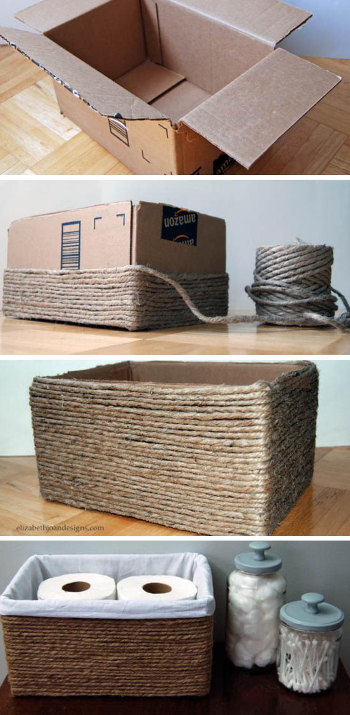 DIY Step-by-Step: Recycled Organizer Box -   25 house diy decor ideas