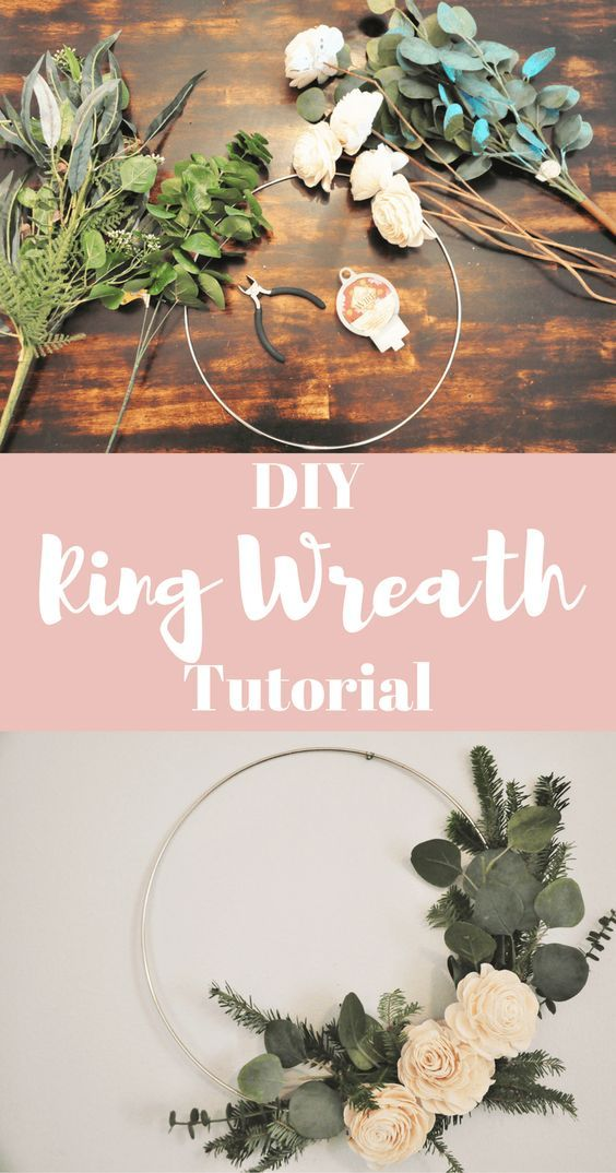 DIY Ring Wreath Tutorial -   25 house diy decor ideas