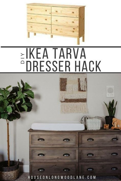 DIY IKEA Tarva Dresser Hack -   24 diy furniture ikea ideas