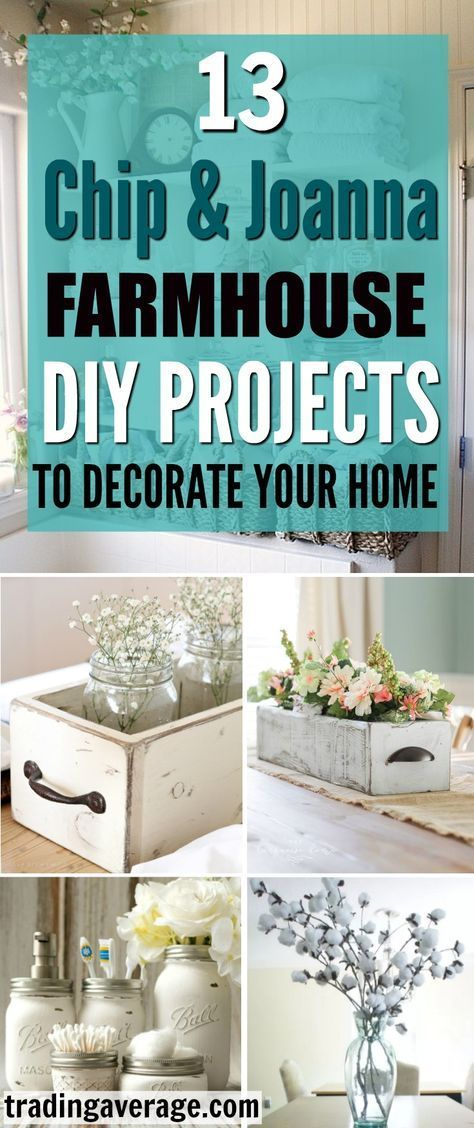 13 DIY Farmhouse Décor Ideas That You Need To Try -   25 house diy decor ideas