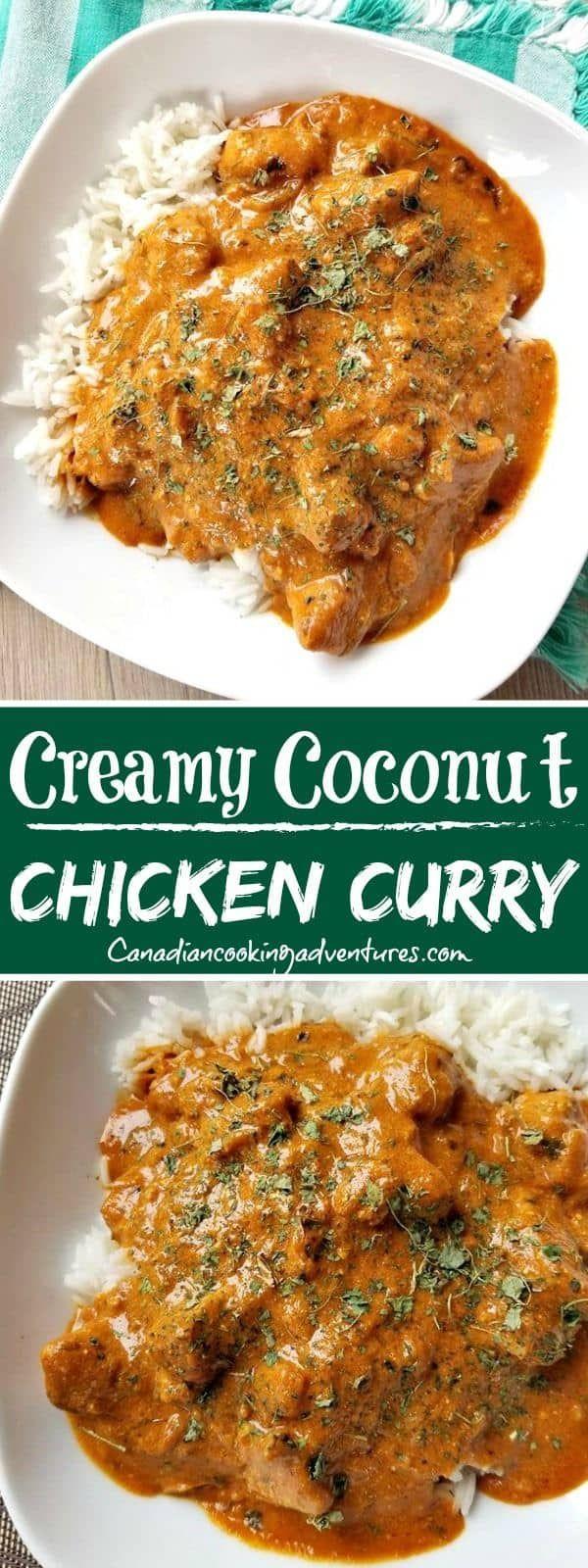 Creamy Coconut Chicken Curry -   13 healthy recipes Chicken curry ideas