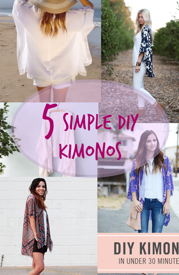 5 SIMPLE DIY KIMONOS -   15 DIY Clothes Bleach summer ideas