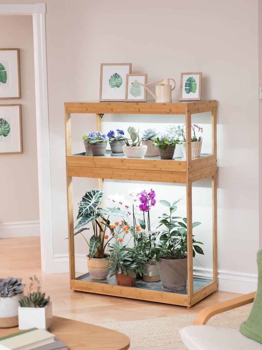 Bamboo Home LED Grow Light Garden -   17 plants Stand inspiration ideas