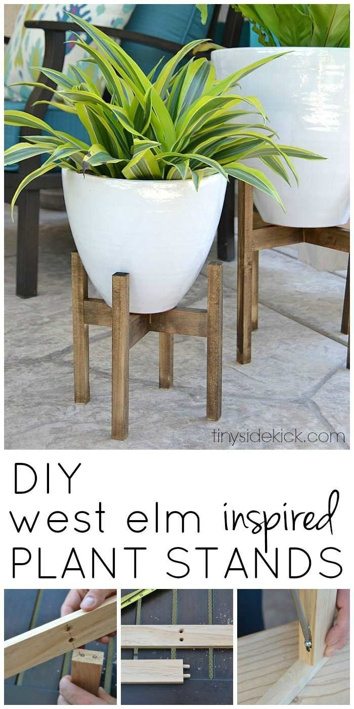 West Elm Inspired Wooden Plant Stands -   17 plants Stand inspiration ideas