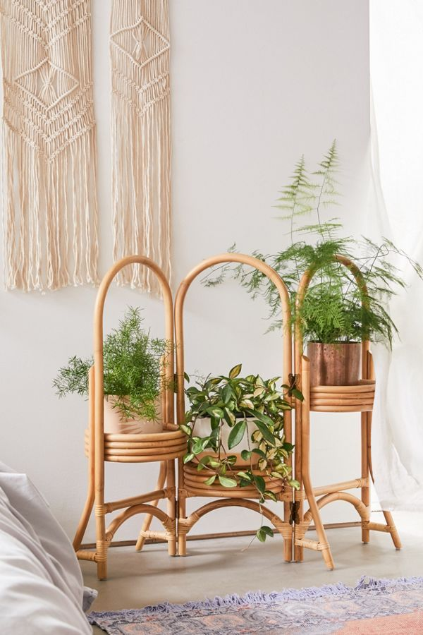 Rattan Plant Stand -   17 plants Stand inspiration ideas