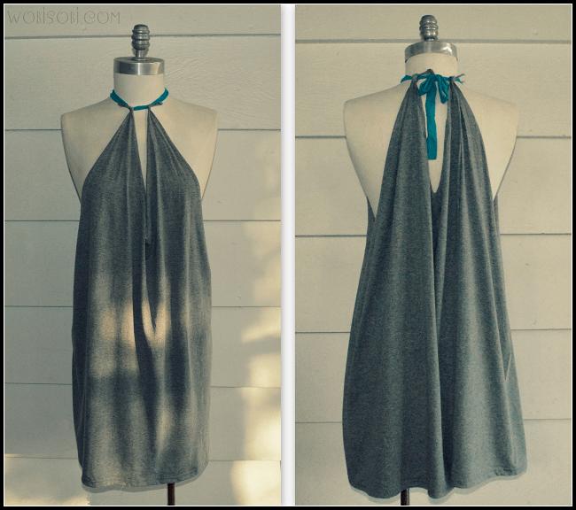 Summer Halter, No Sew Dress: DIY -   15 DIY Clothes Bleach summer ideas
