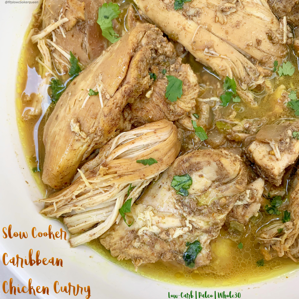 Slow Cooker Caribbean Chicken Curry (Low-Carb,Paleo,Whole30) -   13 healthy recipes Chicken curry ideas