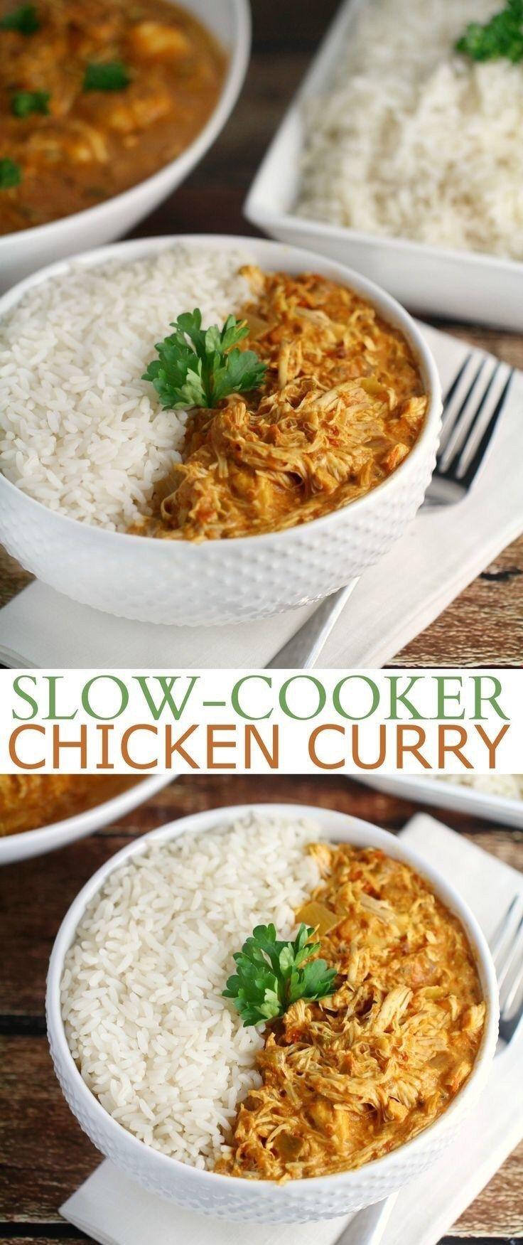 27 Healthy Crockpot Recipes -   13 healthy recipes Chicken curry ideas