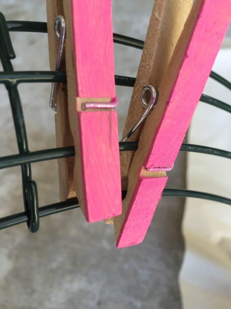 DIY Summer Clothespin Wreath -   15 DIY Clothes Bleach summer ideas