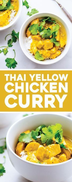 Thai Yellow Chicken Curry with Potatoes -   13 healthy recipes Chicken curry ideas