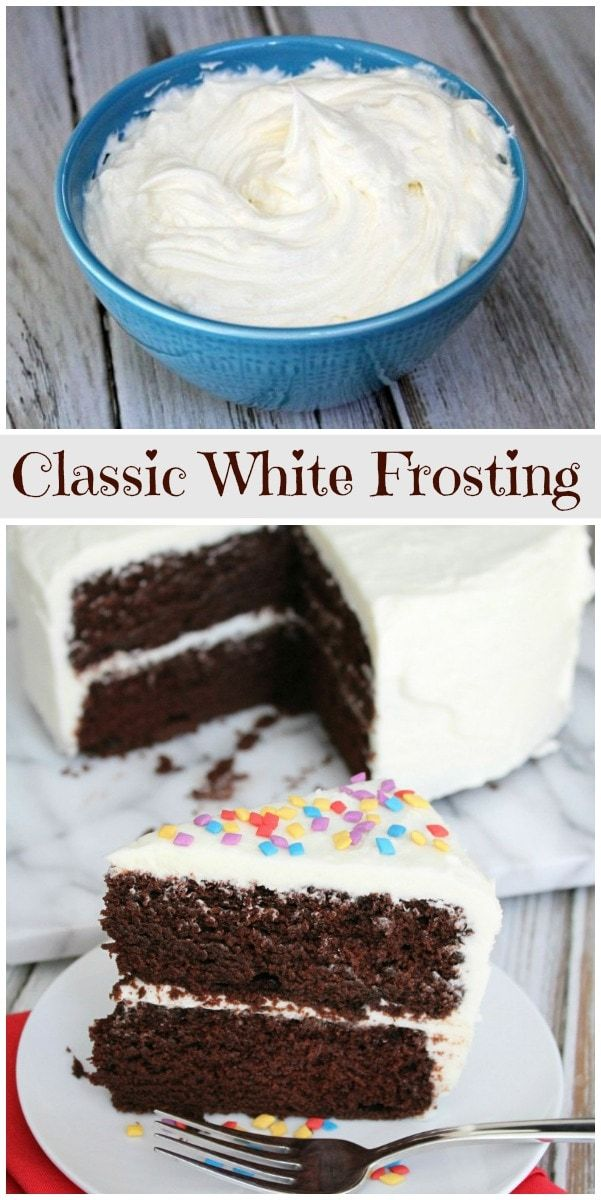 Classic White Frosting -   12 cake Frosting ganache ideas