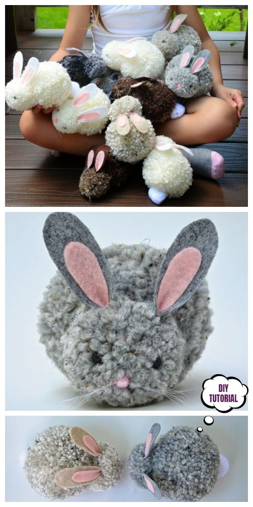 DIY Cute Easter Pom Pom Party Bunnies -   15 holiday Easter pom poms ideas