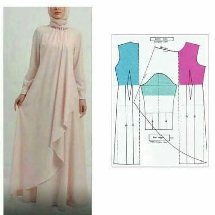Dress simple pola 34 new ideas -   9 pola dress Muslim ideas