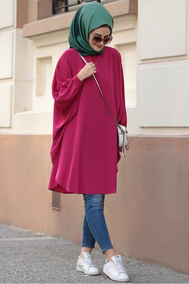 Seda Tiryaki Burcu Tunik Pembe -   9 pola dress Muslim ideas