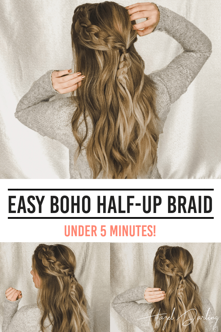 EASY Boho Half Up Braid - LAZY DAY HAIRSTYLE -   11 Easy boho  hairstyles