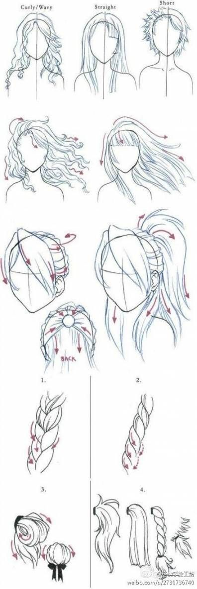 New Drawing Anime Faces Hairstyles Hair Tutorials Ideas -   7 hairstyles anime ideas
