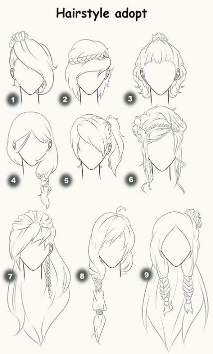 33 Ideas drawing hair female anime hairstyles -   7 hairstyles anime ideas