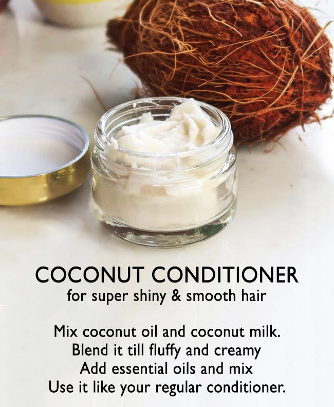 HOMEMADE COCONUT CONDITIONER -   16 hair Natural homemade recipe ideas