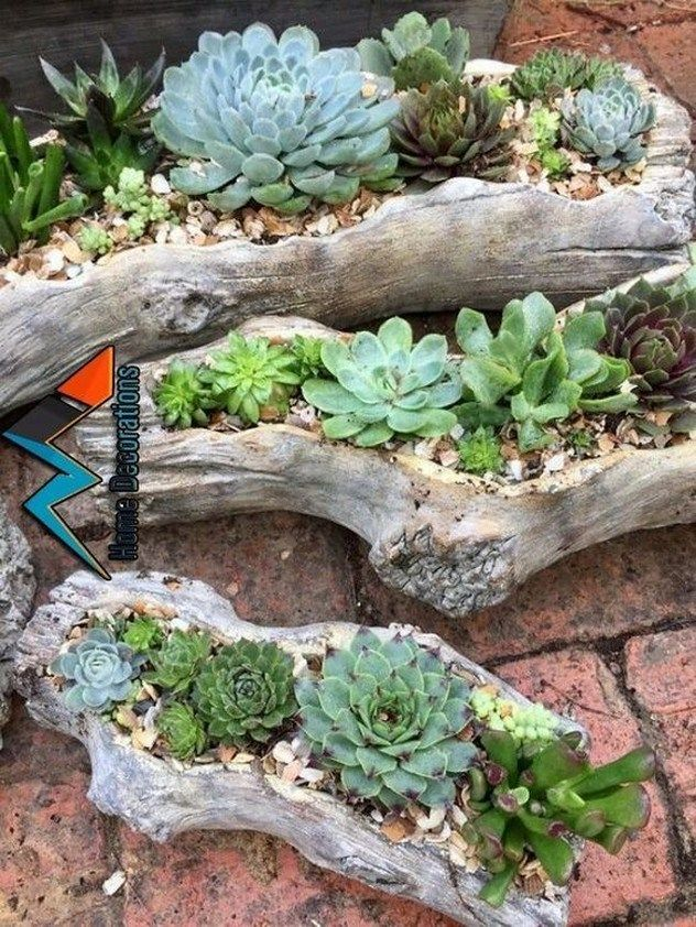 29 rock garden and backyard ideas landscaping for make you happy 6 - https://bingefashion.com/home -   14 planting succulents in a birdbath ideas