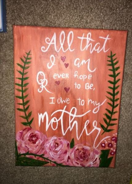 22+ Trendy Ideas Diy Gifts For Mom For Christmas Canvases -   17 diy projects For Mom canvases ideas